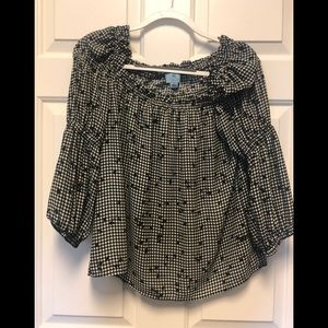 Black and white off the shoulder, size S, CeCe
